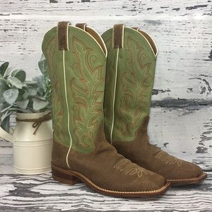 Justin • Ladies Bent Rail Western Boot • Size 10.5